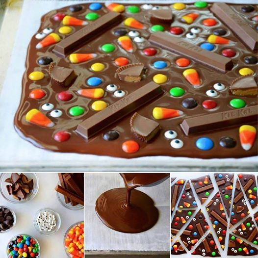 candy bark Wonderful DIY Sweet Halloween Candy Bark