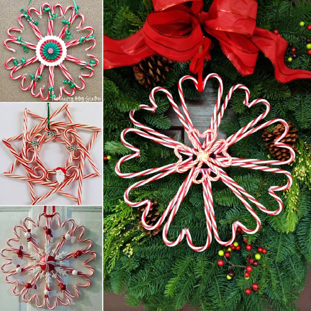 candy can wreath DIY F Wonderful DIY Christmas Candy Cane Wreath