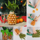 Wonderful DIY Pineapple Shaped Gift  With Chocolate and Champagne