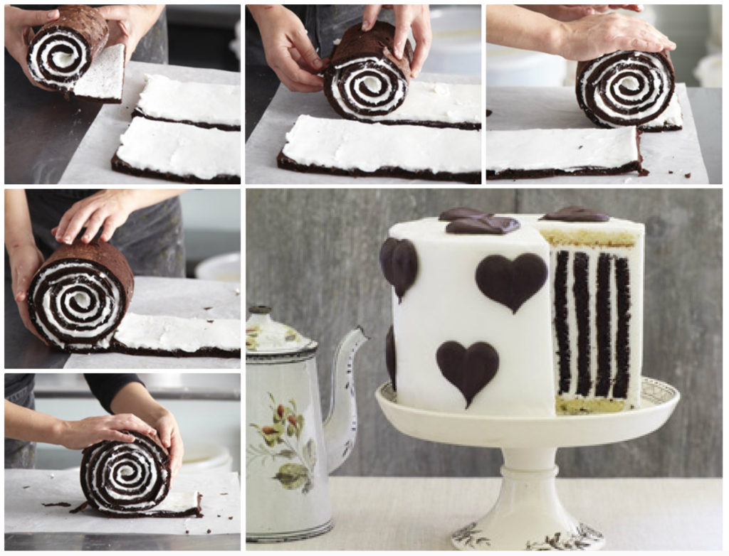 chocolate stripe cake 1024x782 Wonderful DIY Amazing Chocolate Stripe Cake