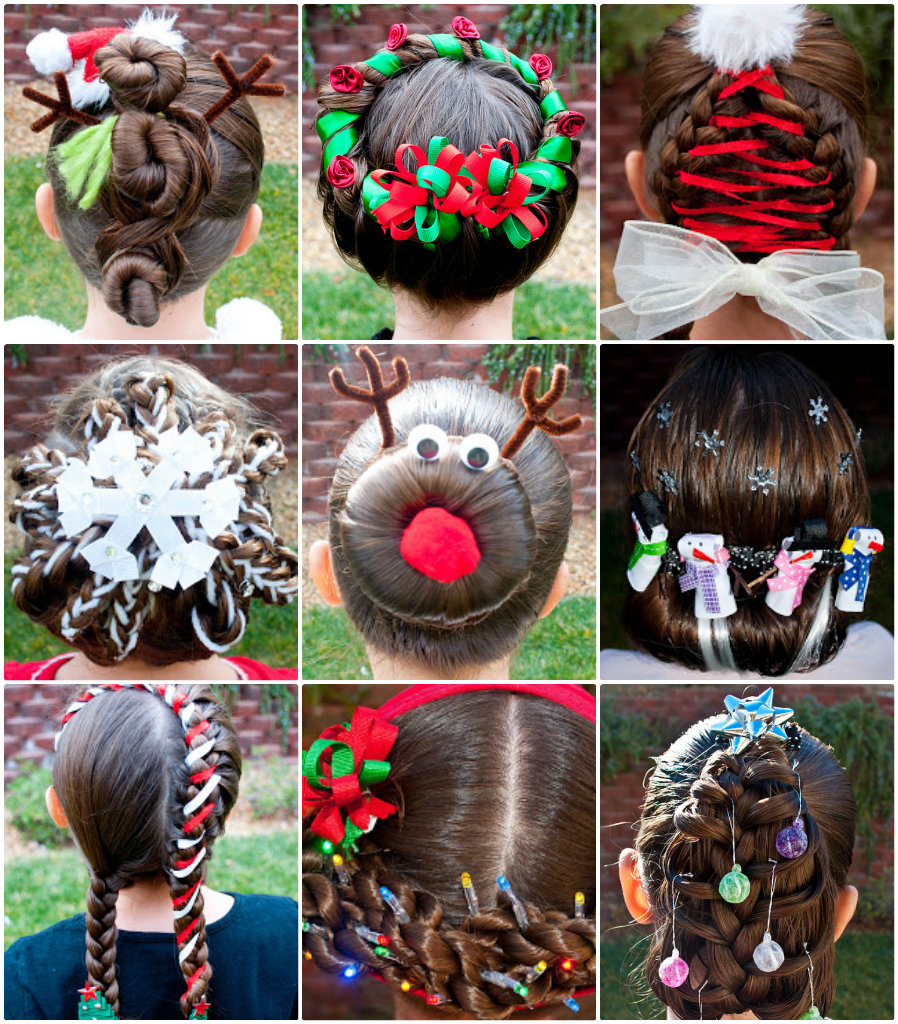 11 wonderful and cute christmas hairstyles solutioingenieria Gallery