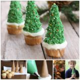 Wonderful DIY  Edible Christmas Tree With Cupcake