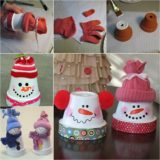 Wonderful DIY Adorable Claypot Snowman
