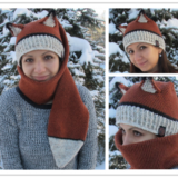 Wonderful DIY Crochet 2 in 1 Fox Hat and Scarf  With Free Pattern