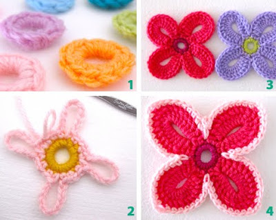 crochet Hawaiian Flowers1 Wonderful DIY Crochet Hawaiian Flower With Free Pattern
