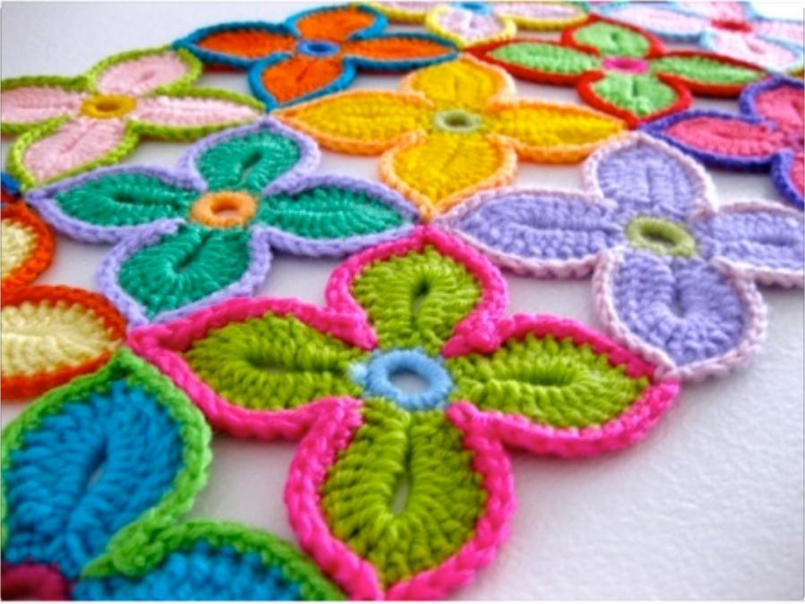 crochet Hawaiian-Flowers3