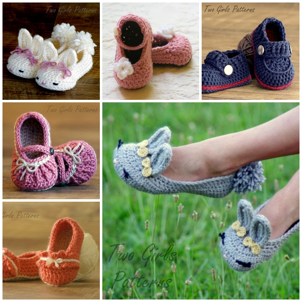 crochet baby and moms slippers F Matching Crochet Slippers for Mom and Baby   Free Guide and Patterns