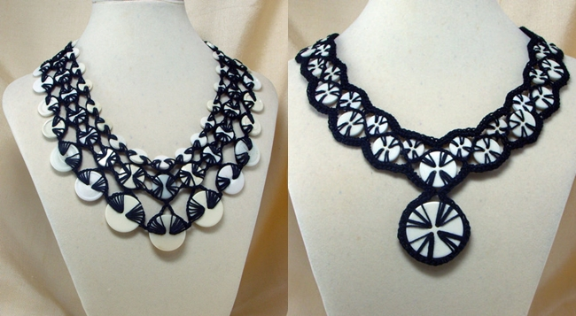 crochet button necklace F Wonderful DIY Stunning Crochet Button Necklace