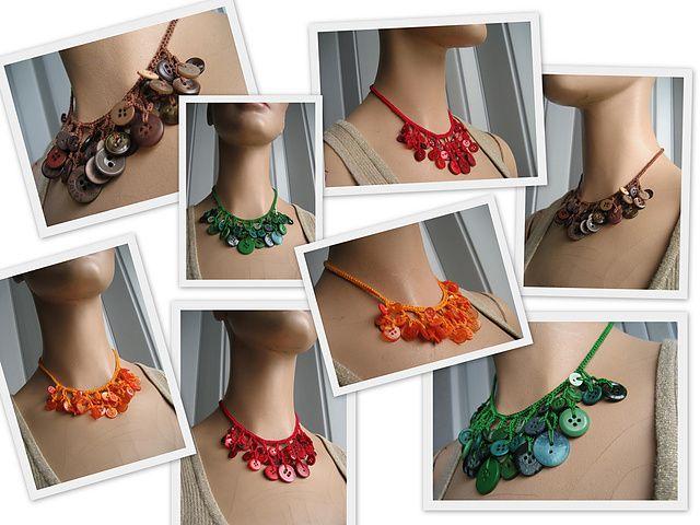 crochet button necklace6