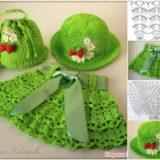 Cutest Crochet Skirt, Hat and Bag Set for Little Girls – Free Pattern
