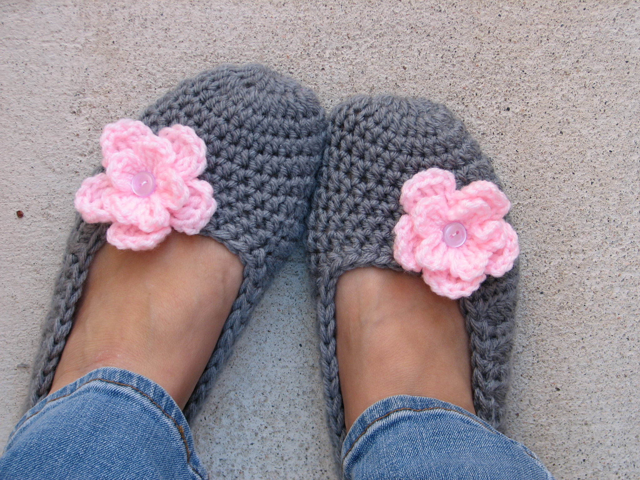 crochet slippers 8