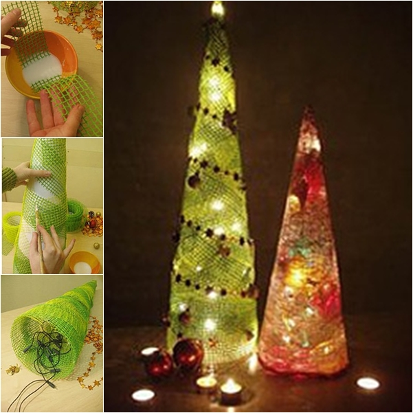 Wonderful DIY Cute Mesh Christmas Tree
