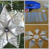 Wonderful DIY Christmas Glittery Flower Ornament