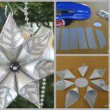 Wonderful DIY Christmas Glittery Flower Ornament