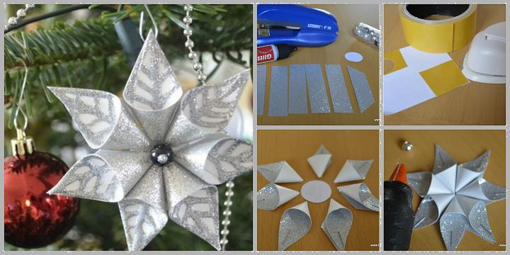 diy flower christmas ornament F Wonderful DIY Christmas Glittery Flower Ornament
