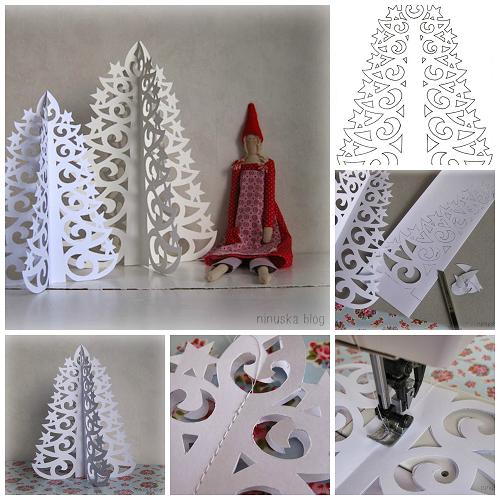 Paper Christmas Tree.Wonderful Diy 3d Paper Christmas Tree