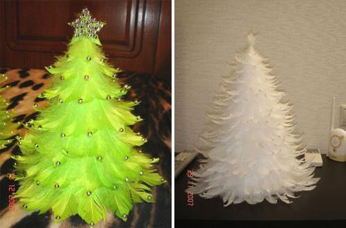 feather christmas tree diy 1