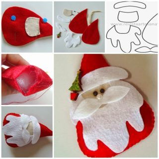 Wonderful DIY Felt Santa With Free Template