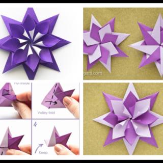 Wonderful DIY Folded Origami Paper Star