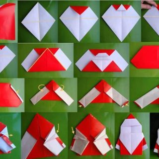 Wonderful DIY Cute Folded Origami Santa
