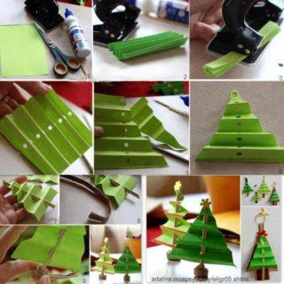 Wonderful DIY Mini Folded Paper Christmas Tree