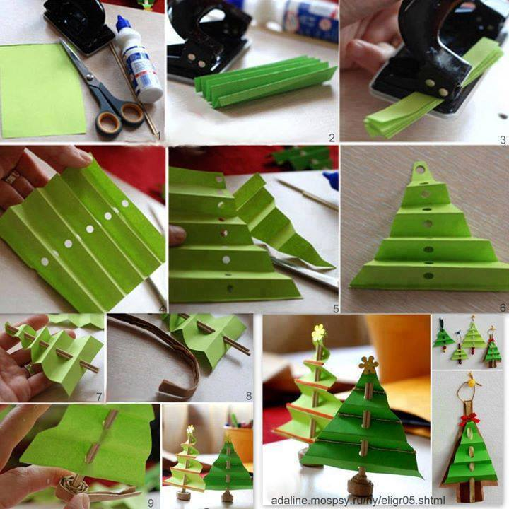 folded paper christmas tree Wonderful DIY Mini Folded Paper Christmas Tree