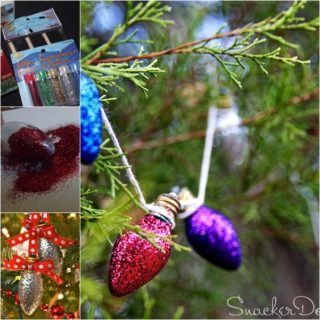 Wonderful DIY Glitter Light Bulb Ornaments for Christmas