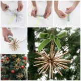 Wonderful DIY Gold Star Ornaments From Drinking Straw