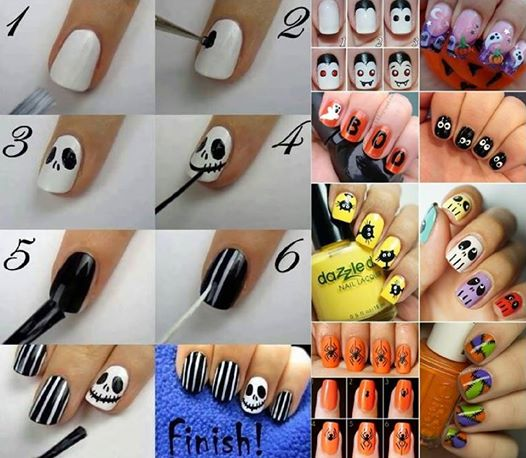 halloween nail art 10 Wonderful Halloween Nail Art Ideas