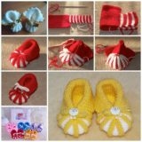 Wonderful DIY Easy Knitted Baby Booties