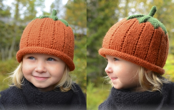 knitted pumpkin hat F2 Wonderful DIY Cute Knitted Pumpkin Hat With Free Pattern