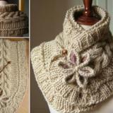 Wonderful DIY Pretty Knitted Scarf with Free Pattern