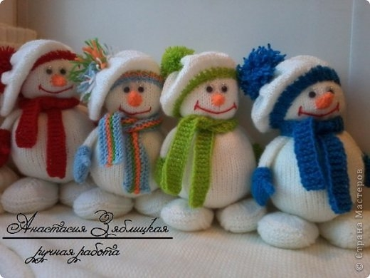 knitted snowman free pattern 12 Wonderful DIY Jolly Knitted Snowmen With Free Patterns