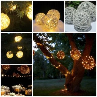 Wonderful DIY Lighted Yarn Ball Decoration