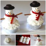 Wonderful DIY Marshmallow Snowman Cupcakes