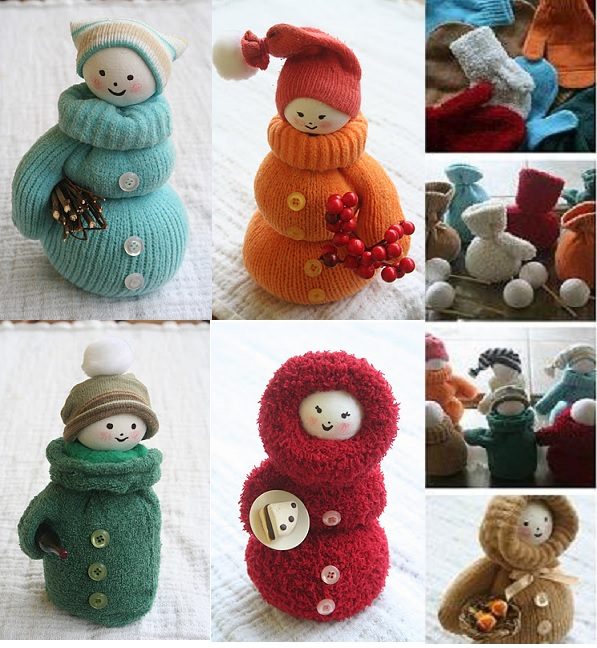 mitten snowman DIY F3 Wonderful DIY Cute Little Snowman
