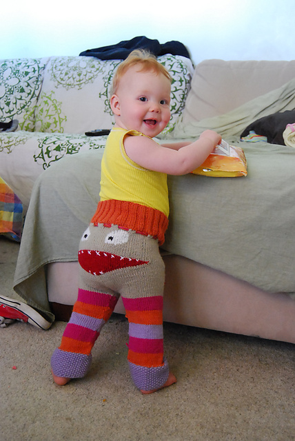 monster pants medium2 Terrifyingly Terrific DIY Knitted Monster Pants [Free Pattern and Tutorial]
