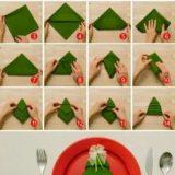 Wonderful DIY Tasteful Napkin Christmas Tree