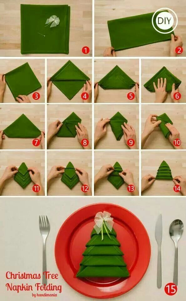 napkin Christmas Tree DIY F Wonderful DIY Tasteful Napkin Christmas Tree