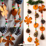 Wonderful DIY Orange Peel Christmas Ornaments