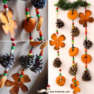 Wonderful DIY Orange Peel Christmas Ornaments