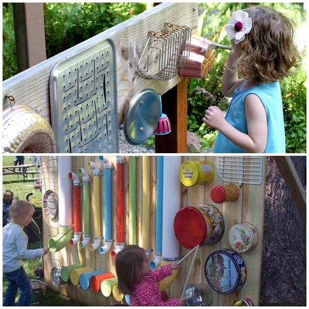 outdoor music station F Wonderful DIY Outdoor Music Wall / Station For Kids