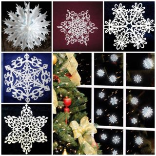 Wonderful DIY Pretty Paper Snowflake Ornaments for Christmas