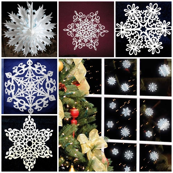 paper snowflake ornaments F Wonderful DIY Pretty Paper Snowflake Ornaments for Christmas