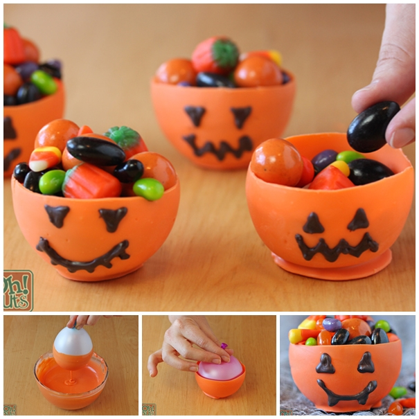 pumpkin candy cups F1 Wonderful DIY Edible Pumpkin Cups for Halloween