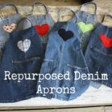 Wonderful DIY Easy Children's Apron From Old Jeans