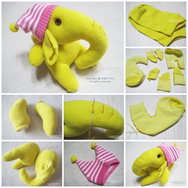 sock elephant F Wonderful DIY Adorable Sock Elephant