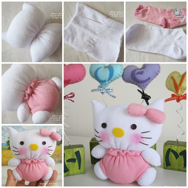 sock hello kitty F2 Wonderful DIY Adorable Sock Hello Kitty