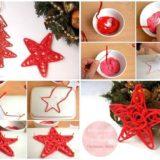 Wonderful DIY Yarn Star Christmas Ornaments