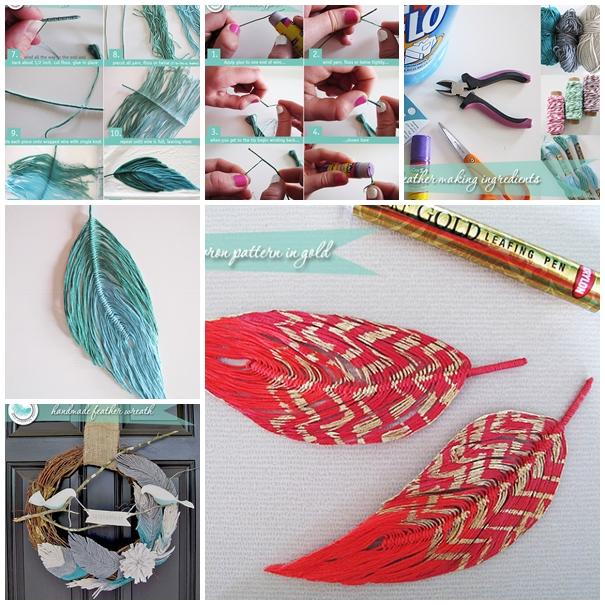 yarn feather F Wonderful DIY Handmade Yarn Feather and Bird